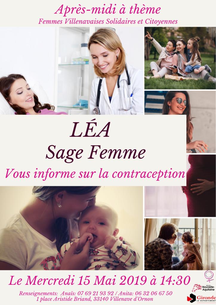 contraception, sage-femme, association, femmes villenavaises solidaires et citoyennes, région nouvelle aquitaine, département gironde