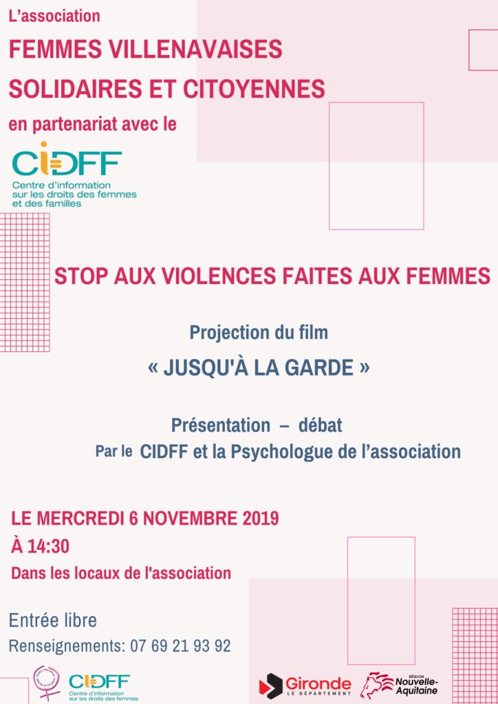 """Nous vous proposons de découvrir l'exposition """"Déconstruire les idées reçues sur les violences faites aux femmes"""" et le film """"jusqu'à la garde""""."""